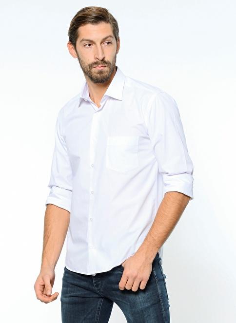 Daffari Uzun Kollu Slim Fit Gömlek Beyaz